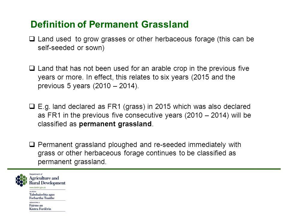 Definition of Permanent Grassland
