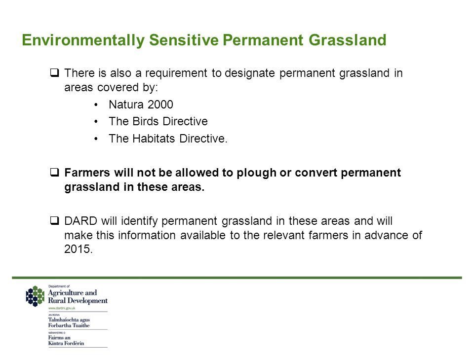 Environmentally Sensitive Permanent Grassland