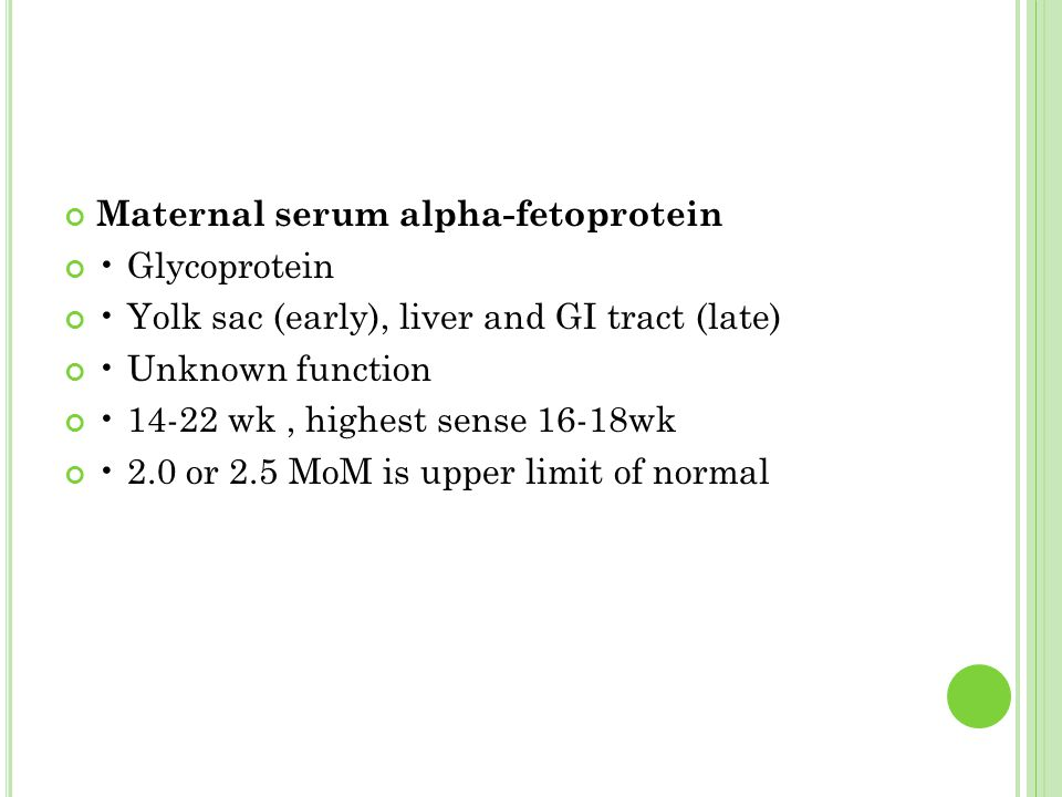 Maternal serum alpha-fetoprotein