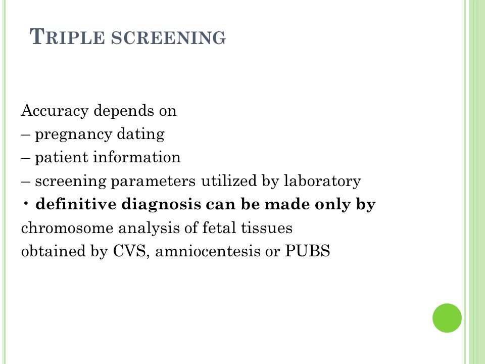 Triple screening