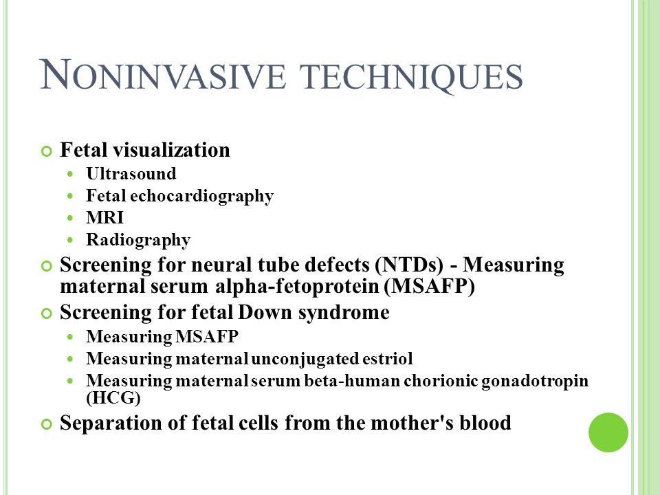 Noninvasive techniques