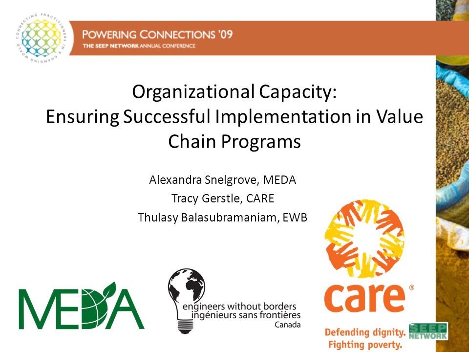 Organizational Capacity: Ensuring Successful Implementation in Value Chain Programs
