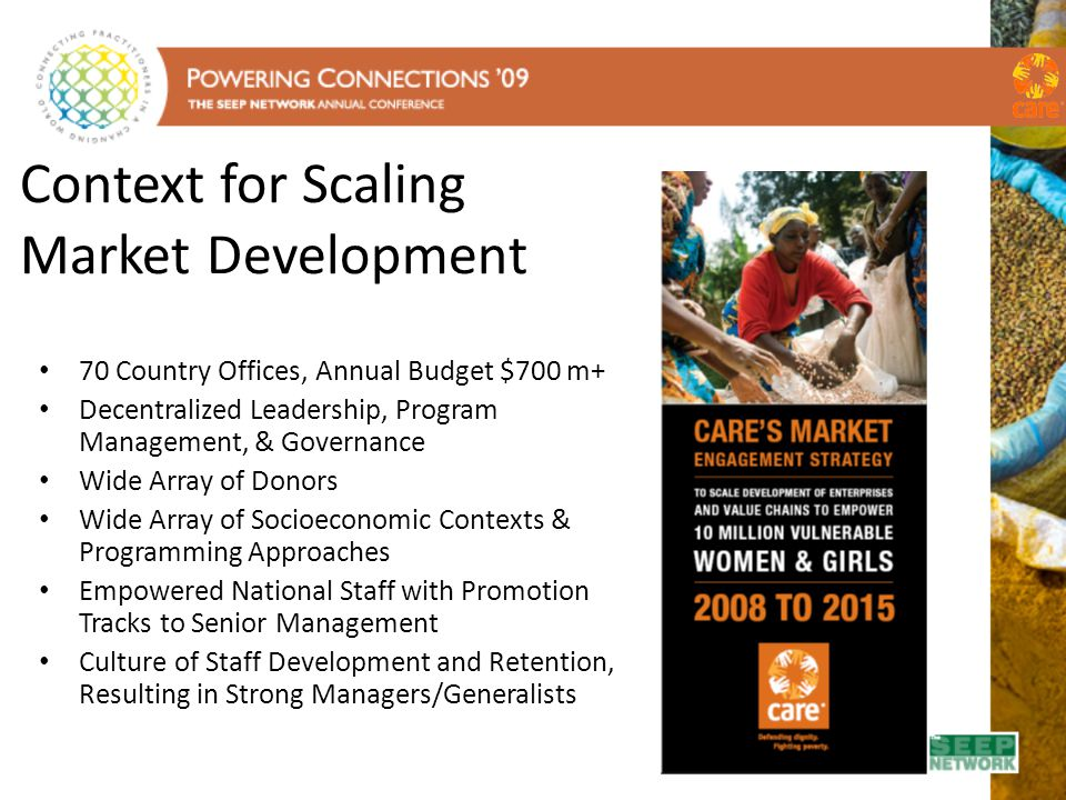 Context for Scaling Market Development