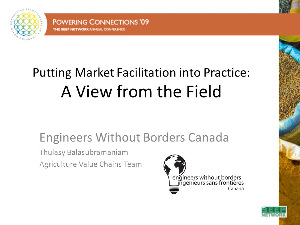 Putting Market Facilitation into Practice: A View from the Field