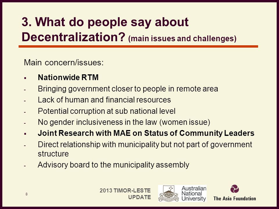 3. What do people say about Decentralization