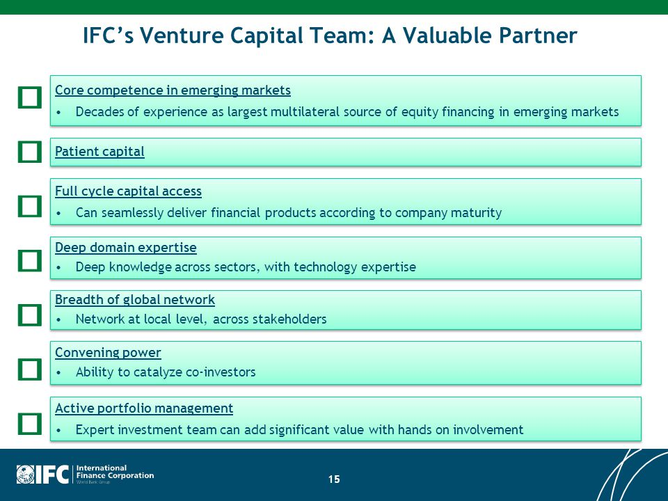 IFC's Venture Capital Team: A Valuable Partner