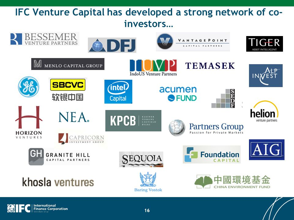 IFC Venture Capital has developed a strong network of co-investors…