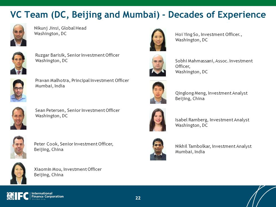 VC Team (DC, Beijing and Mumbai) - Decades of Experience