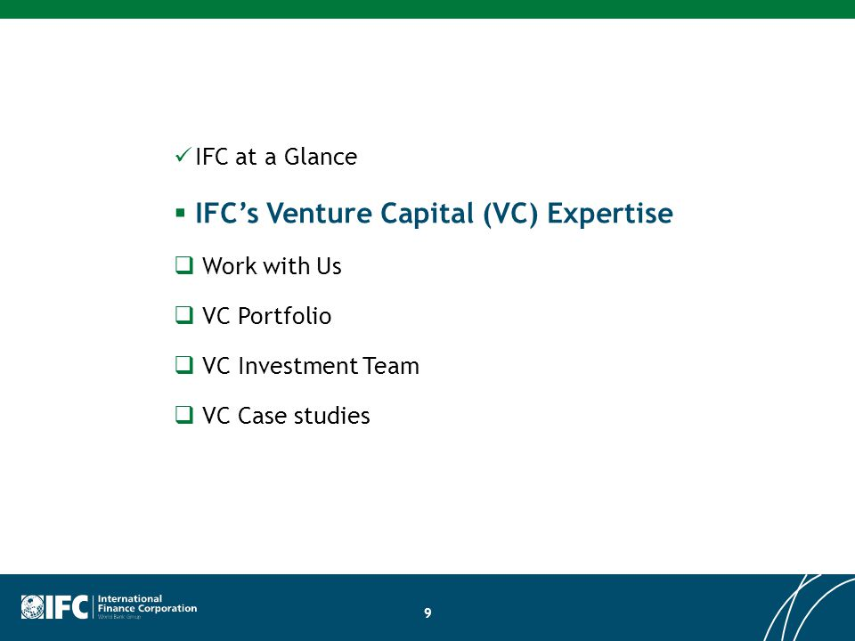 IFC's Venture Capital (VC) Expertise