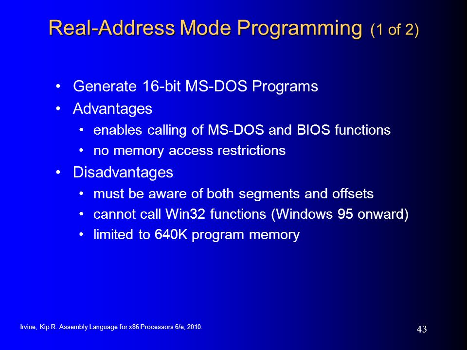 Real-Address Mode Programming (1 of 2)