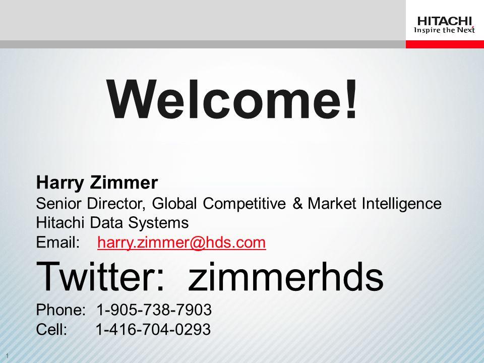 Welcome! Twitter: zimmerhds Harry Zimmer