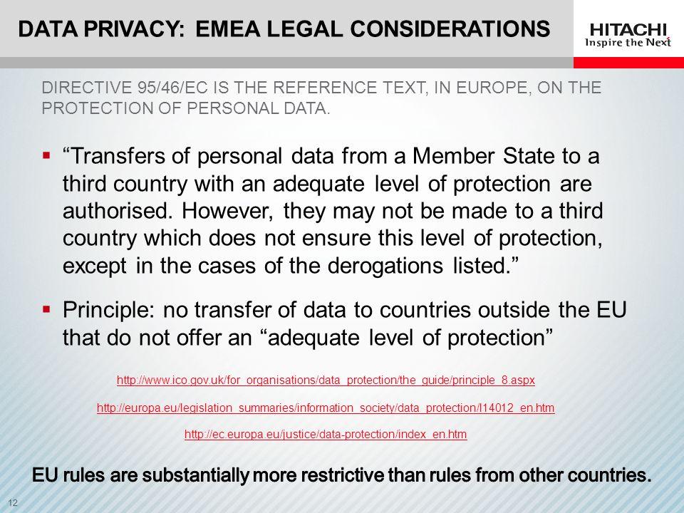 Data Privacy: EMEA Legal Considerations