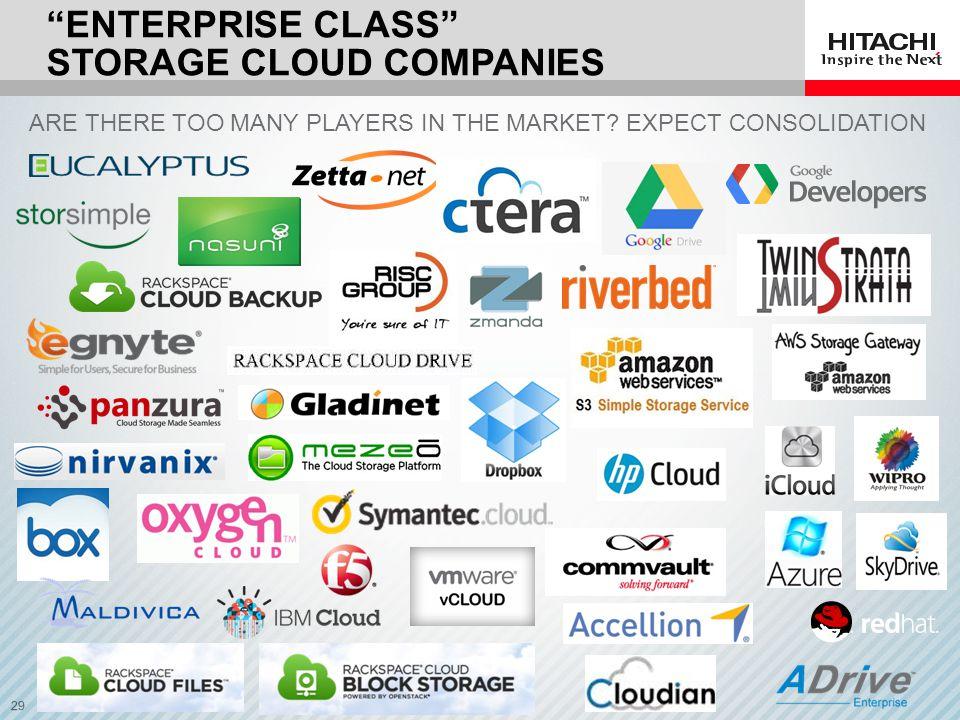 Enterprise class Storage CLOUD companies