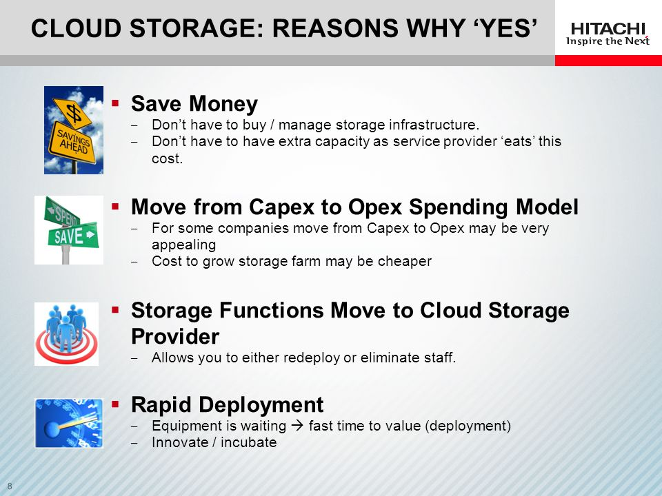 Cloud Storage: reasons why 'YES'