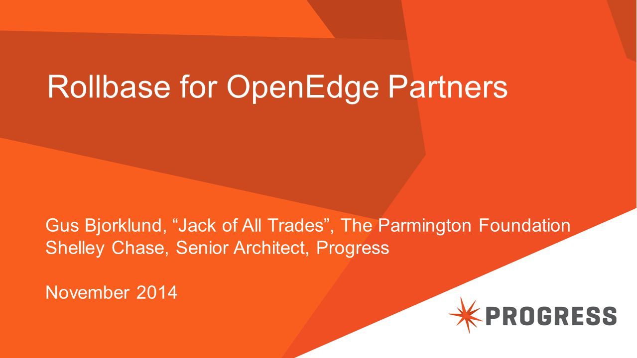 Rollbase for OpenEdge Partners