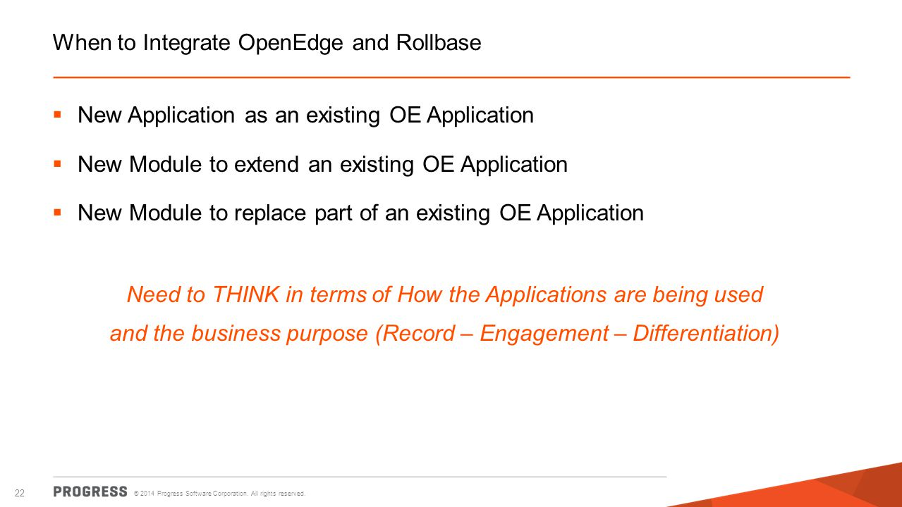 When to Integrate OpenEdge and Rollbase
