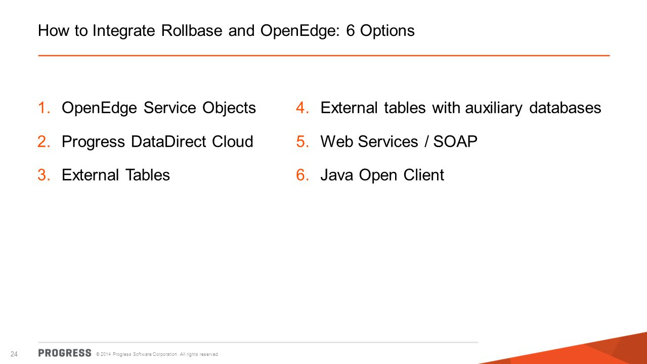 How to Integrate Rollbase and OpenEdge: 6 Options