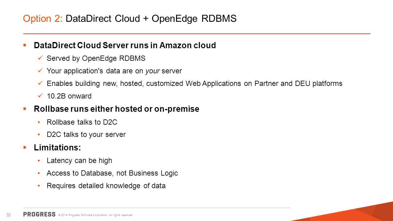 Option 2: DataDirect Cloud + OpenEdge RDBMS