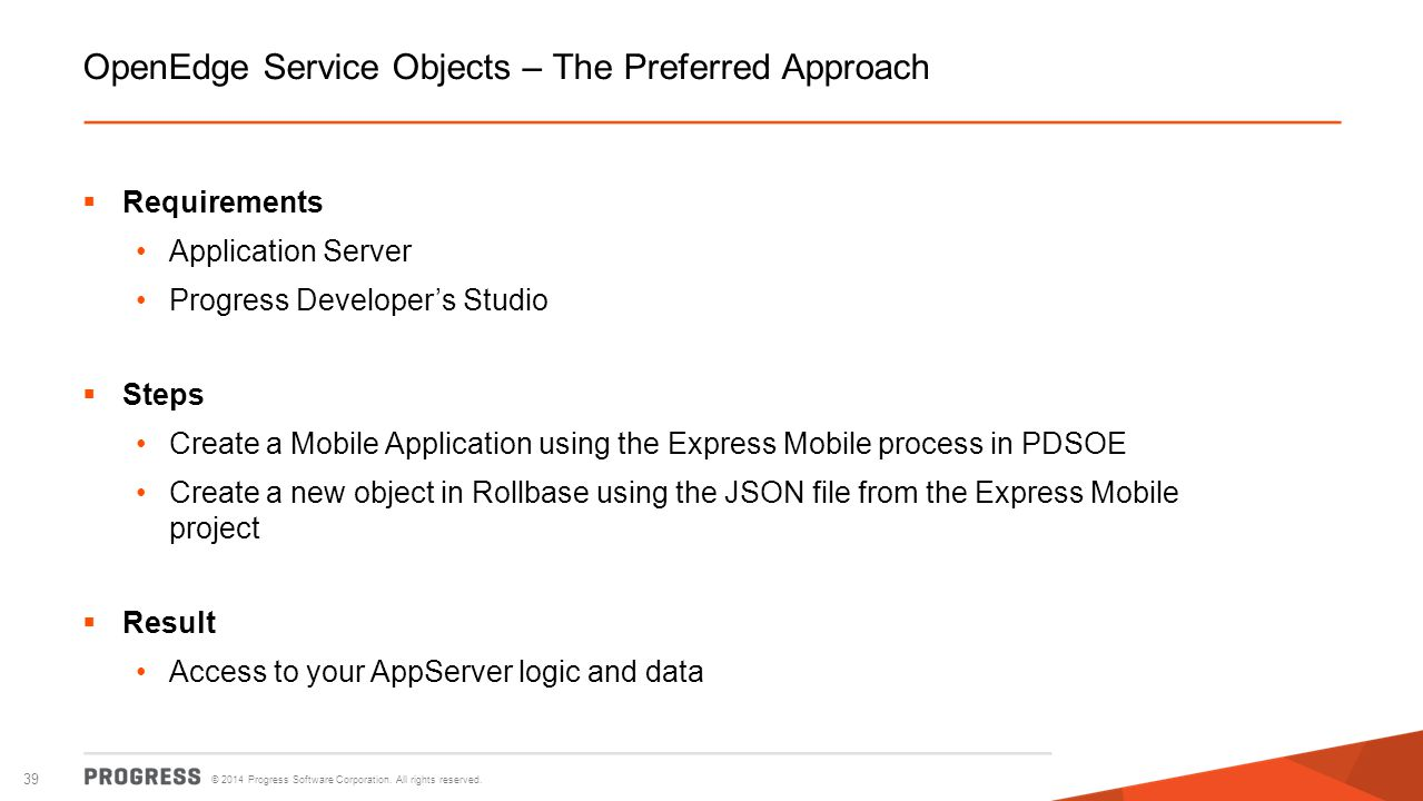 OpenEdge Service Objects – The Preferred Approach