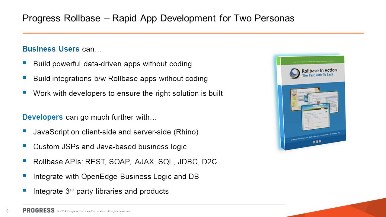 Progress Rollbase – Rapid App Development for Two Personas