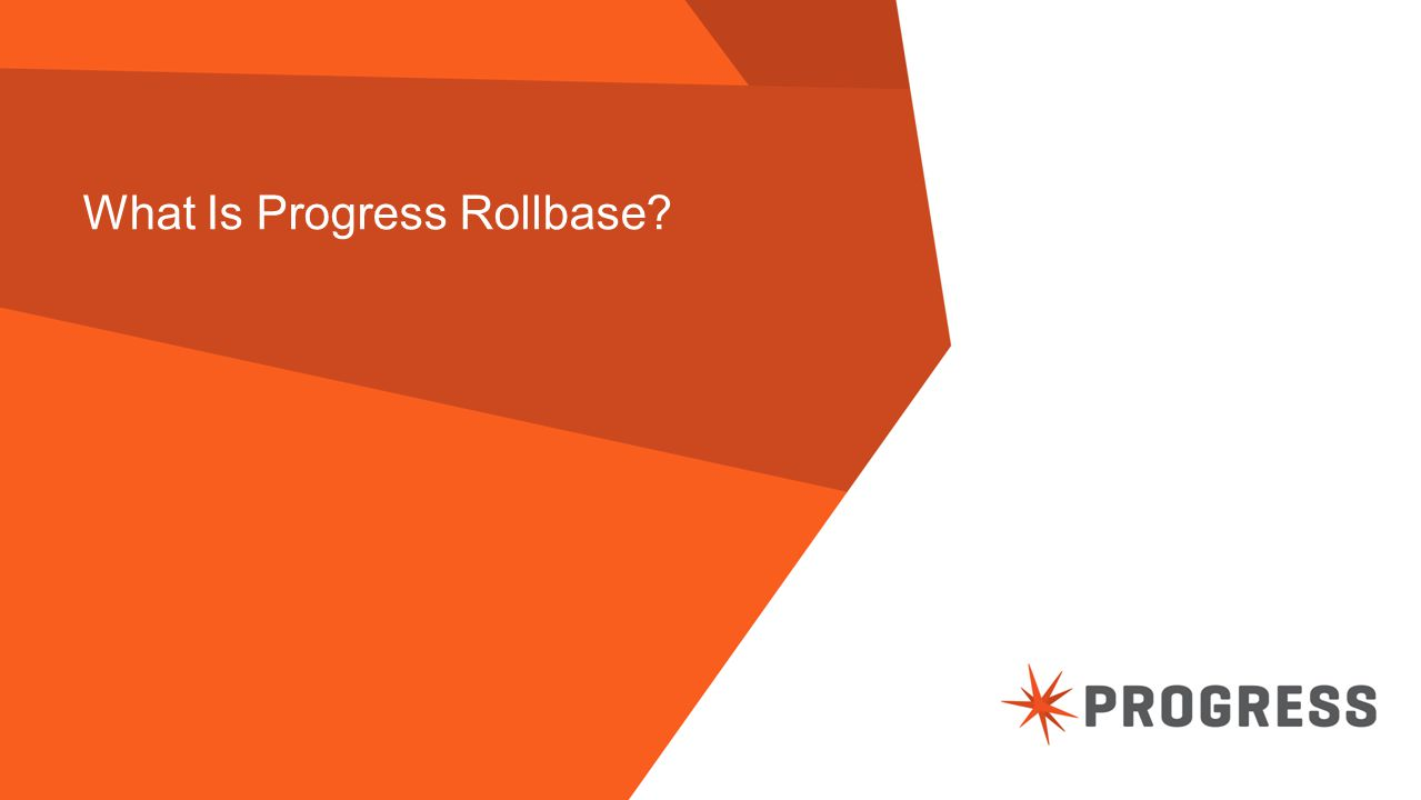 What Is Progress Rollbase