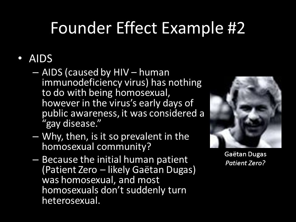 Founder Effect Example #2