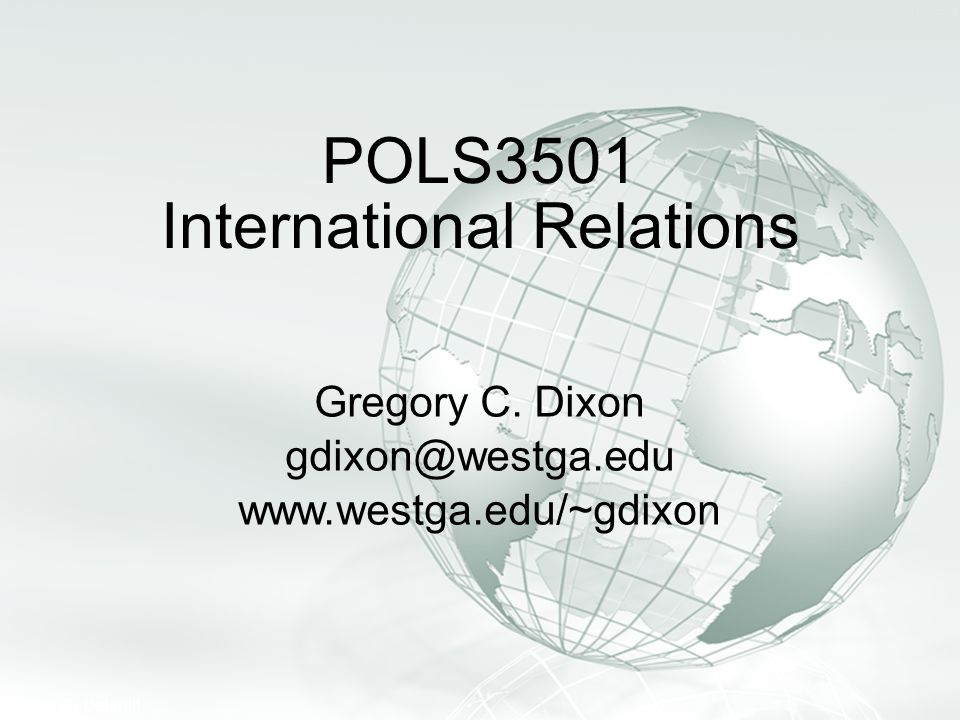 POLS3501 International Relations