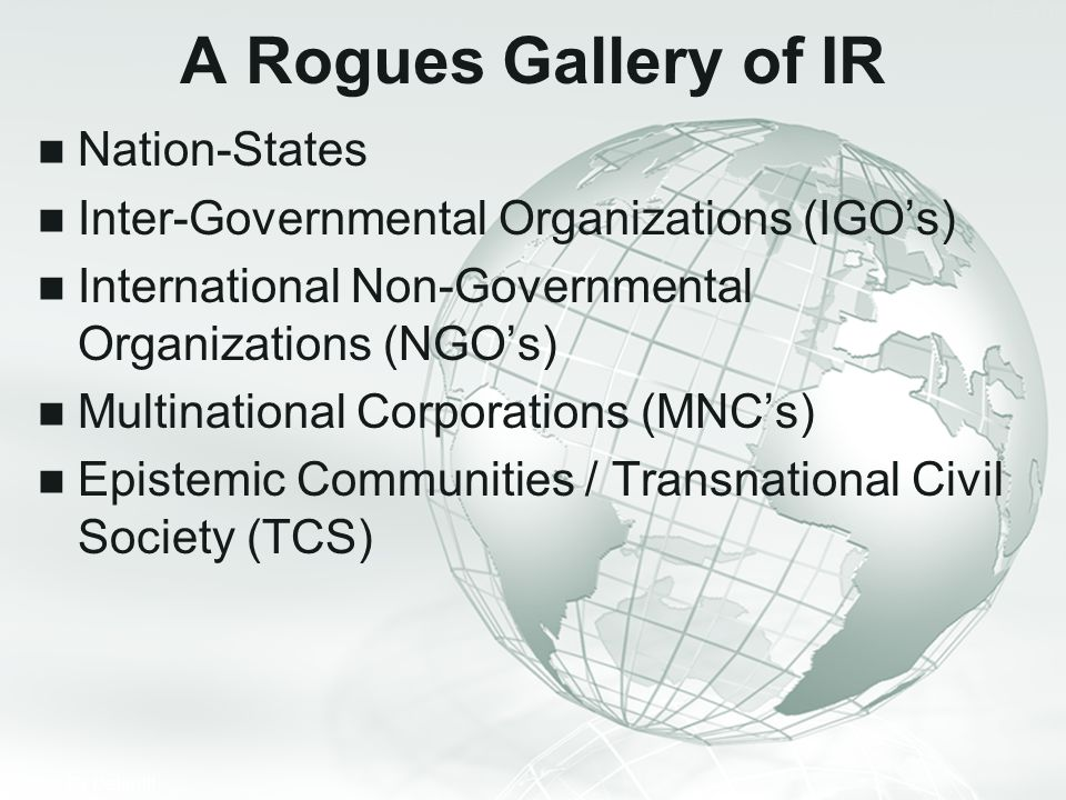 A Rogues Gallery of IR Nation-States