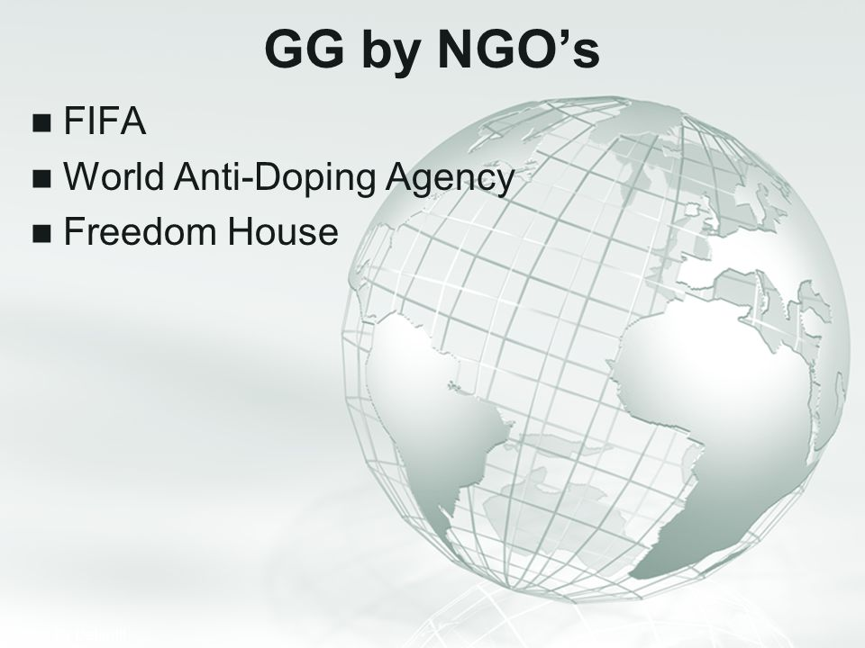 GG by NGO's FIFA World Anti-Doping Agency Freedom House
