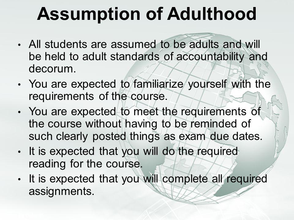 Assumption of Adulthood