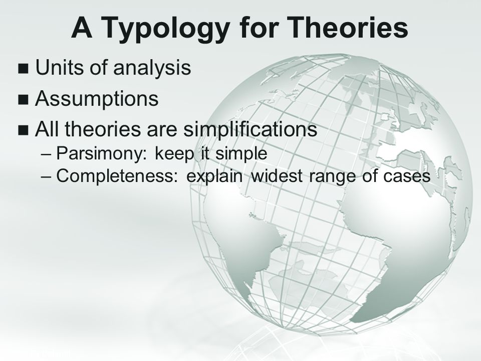 A Typology for Theories