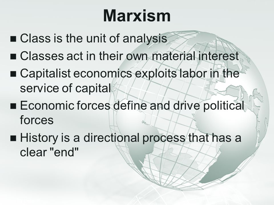 Marxism Class is the unit of analysis