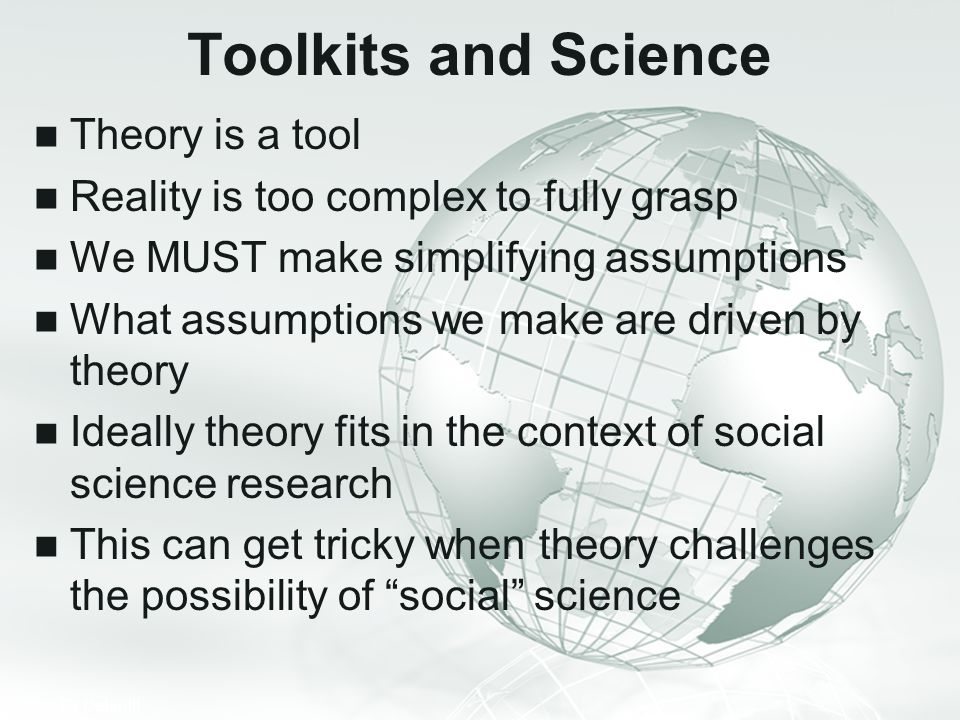 Toolkits and Science Theory is a tool