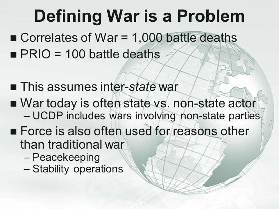 Defining War is a Problem