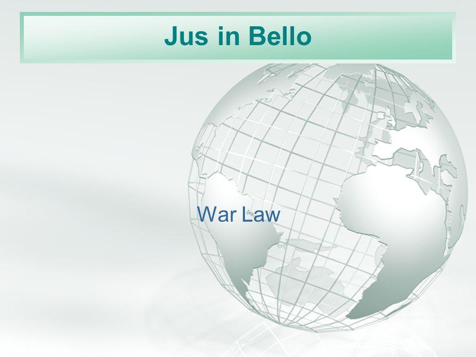 Jus in Bello War Law