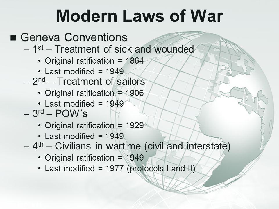 Modern Laws of War Geneva Conventions