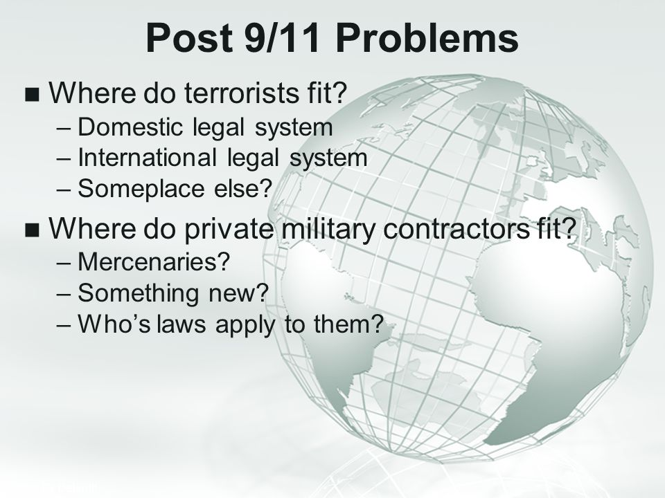 Post 9/11 Problems Where do terrorists fit