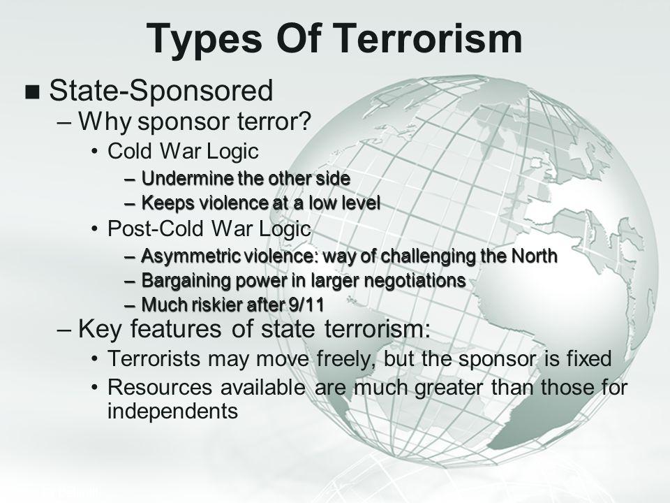 Types Of Terrorism State-Sponsored Why sponsor terror