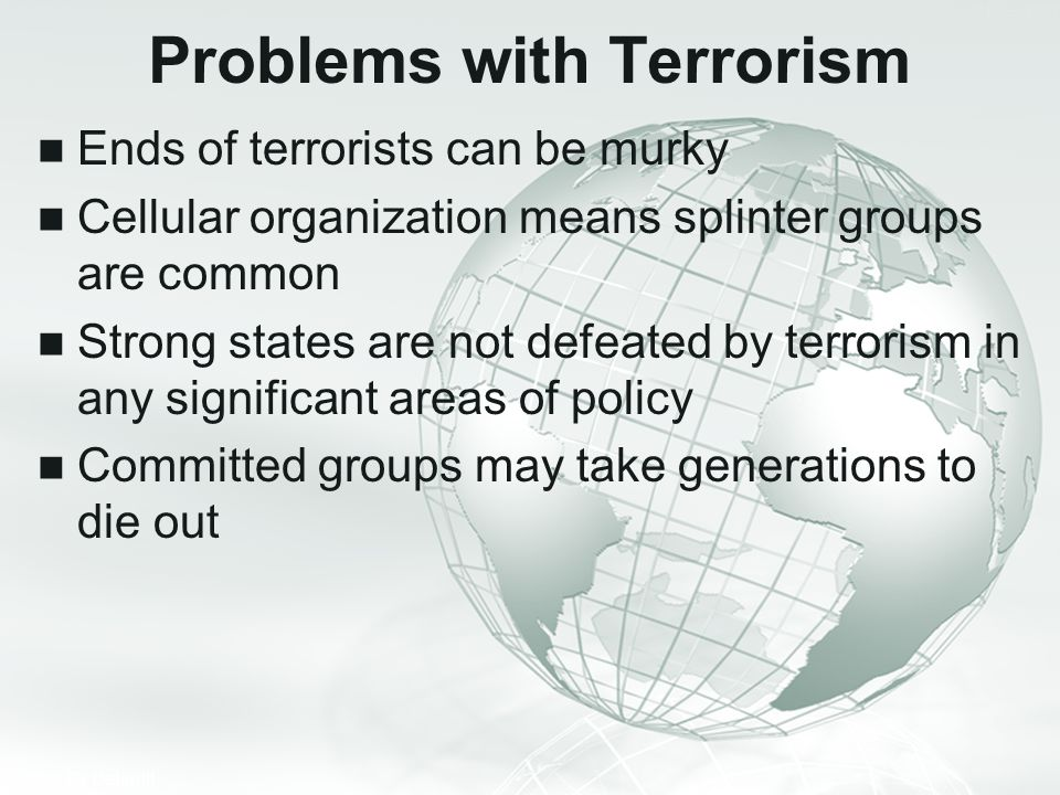 Problems with Terrorism