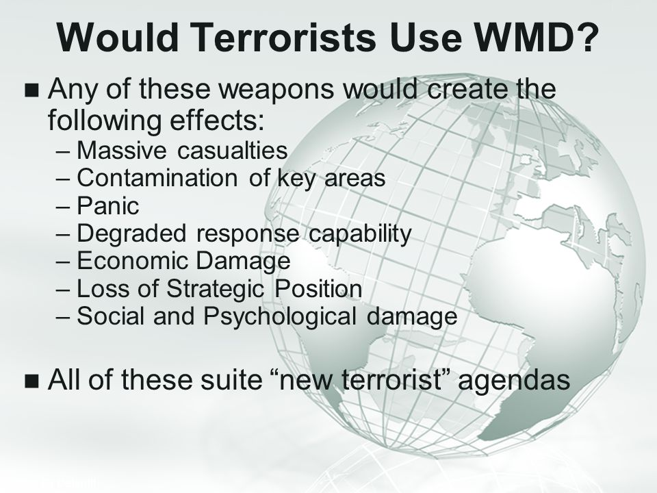 Would Terrorists Use WMD