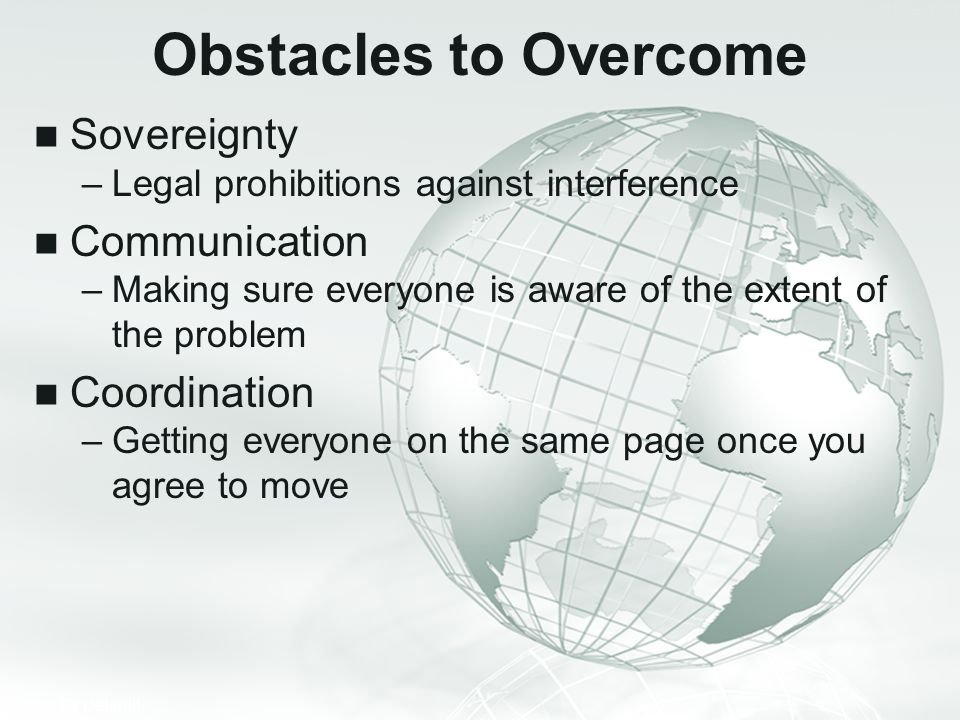 Obstacles to Overcome Sovereignty Communication Coordination