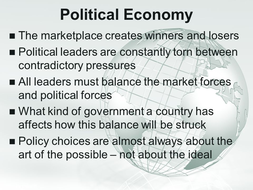 Political Economy The marketplace creates winners and losers