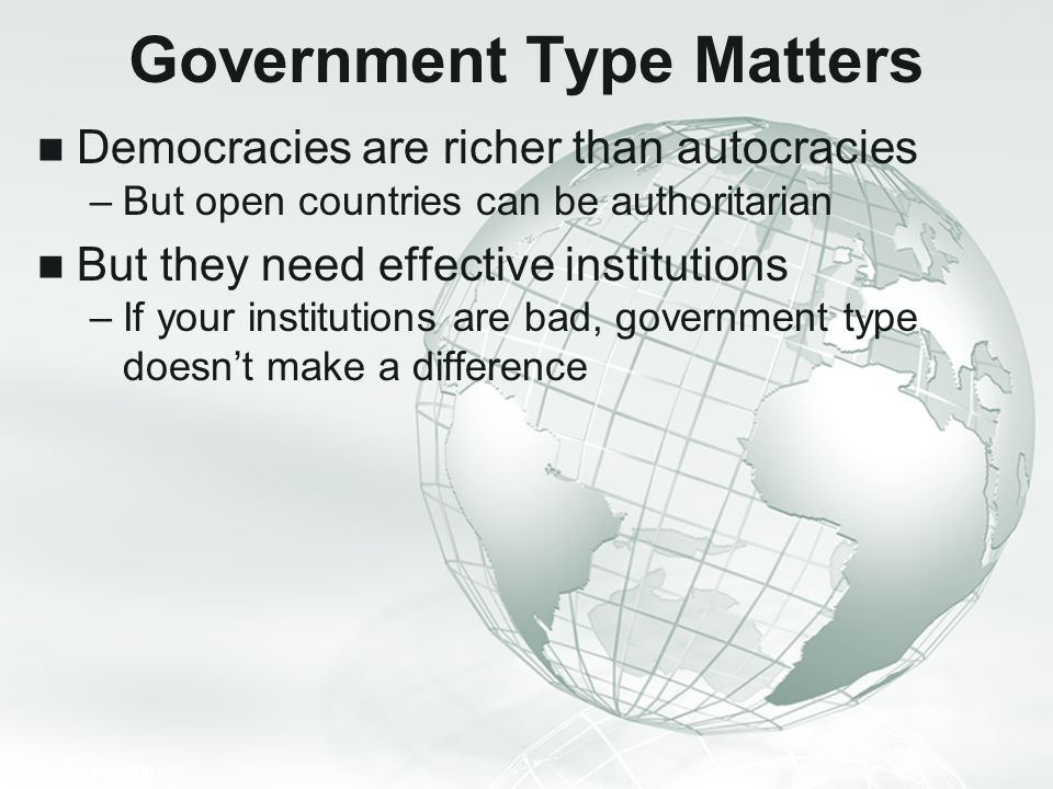 Government Type Matters