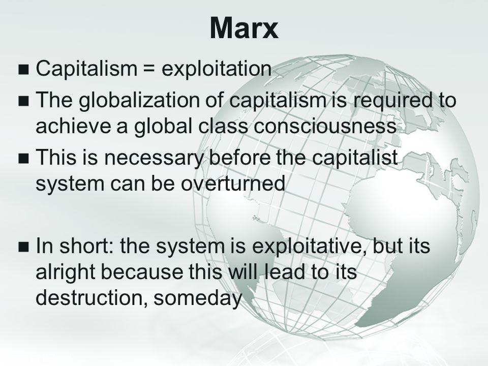 Marx Capitalism = exploitation