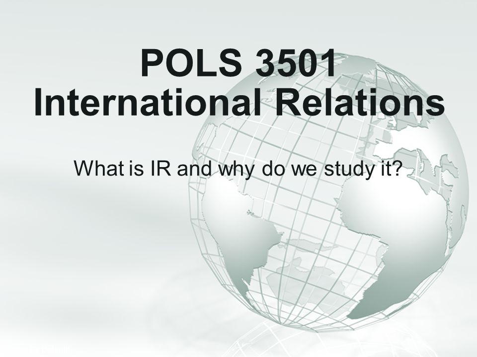 POLS 3501 International Relations