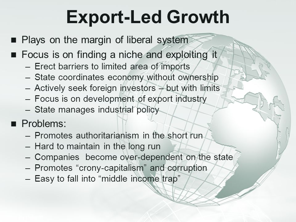 Export-Led Growth Plays on the margin of liberal system