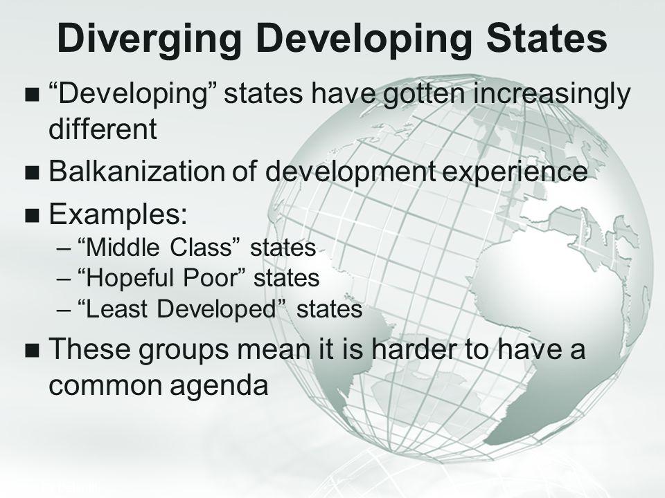 Diverging Developing States