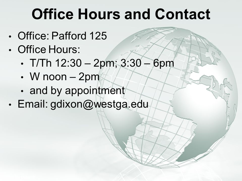Office Hours and Contact