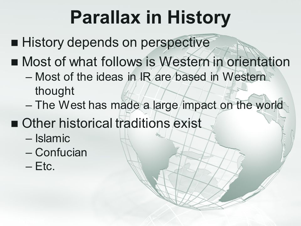 Parallax in History History depends on perspective