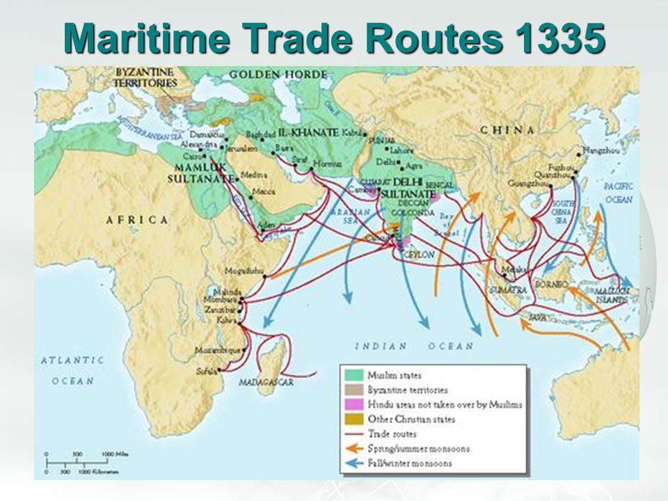 Maritime Trade Routes 1335